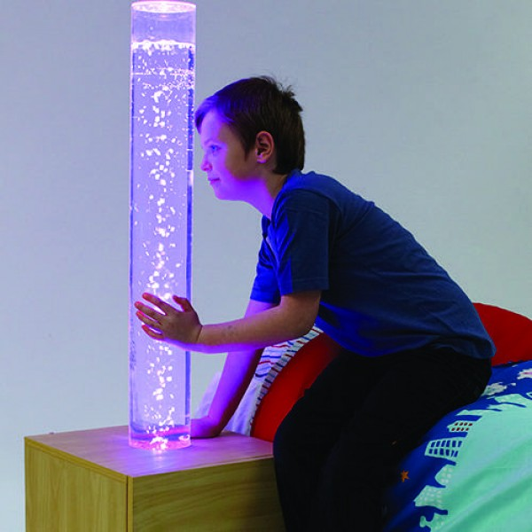 LED Bubble Tube Bedside Cabinet