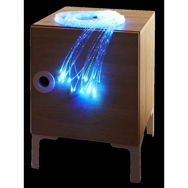 LED Fibre Optic Bedside Cabinet